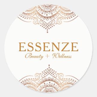 Elegant Rose-Gold Ornate Lace Classic Round Sticker