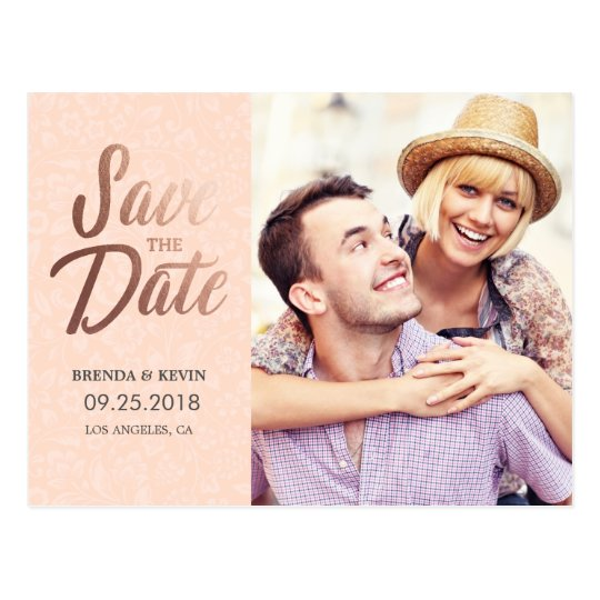 Elegant Rose Gold | Photo Save the Date