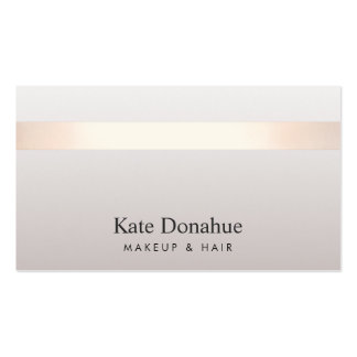 Elegant Rose Gold Striped Modern Stylish Taupe Pack Of Standard Business Cards