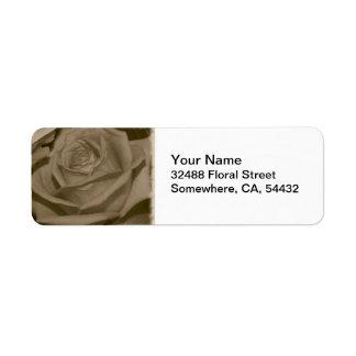 Elegant Rose Return Address Label