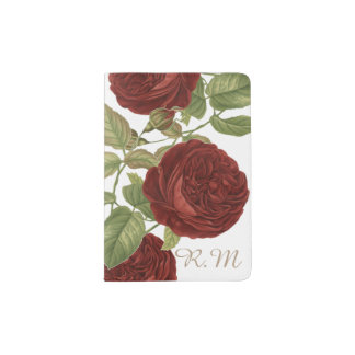 Elegant Rose Passport Holder