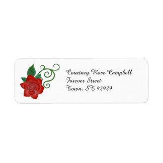 Elegant Rose Return Addres Label Return Address Label