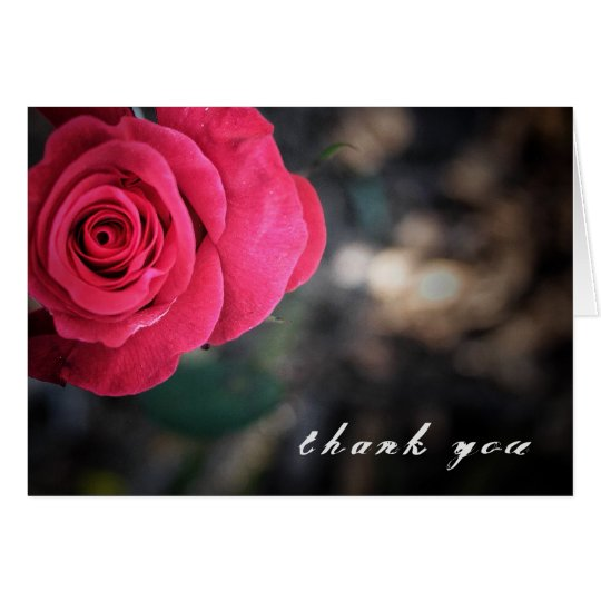 Elegant Rose Thank You Card