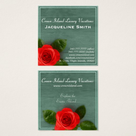 Elegant Rose Wood Nature Vacation Business Card