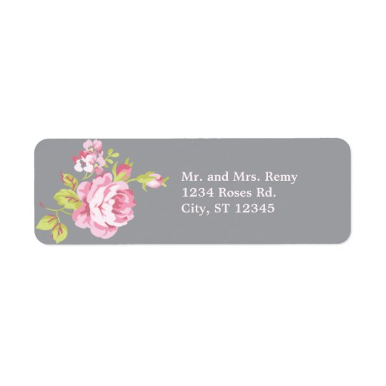 Elegant Roses Address Label