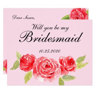 Elegant Roses Bridesmaid Invitation
