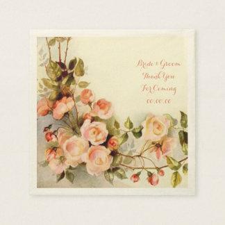 Elegant roses paper serviettes