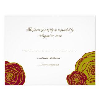 Elegant Roses RSVP Card Personalized Announcement