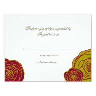 Elegant Roses RSVP Card Personalized Announcement