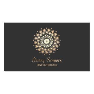Elegant Rosette Floral Motif Interior Designer Business Card