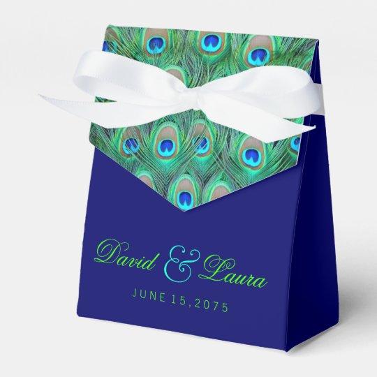 Elegant Royal Blue and Green Peacock Wedding Wedding