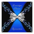 Elegant Royal Blue Black Diamond Bow Card