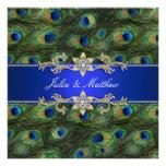 Elegant Royal Blue Peacock Wedding