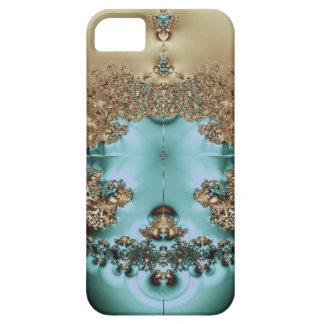 Elegant Royal Gold and Aqua iPhone 5 Cover