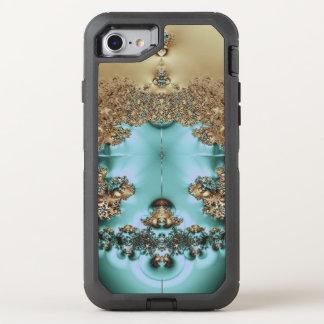 Elegant Royal Gold and Aqua OtterBox Defender iPhone 8/7 Case