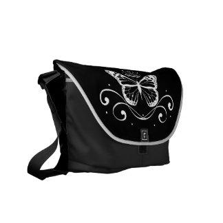 Elegant Royal white Butterfly Courier Bag
