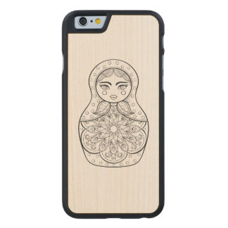 Elegant Russian Doll Carved Maple iPhone 6 Case