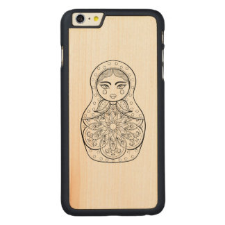 Elegant Russian Doll Carved® Maple iPhone 6 Plus Case