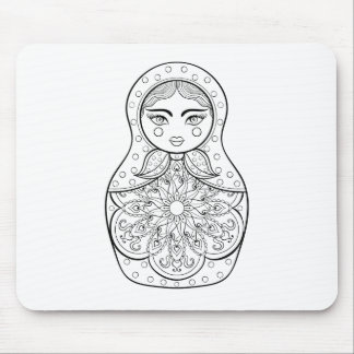 Elegant Russian Doll Mouse Mat