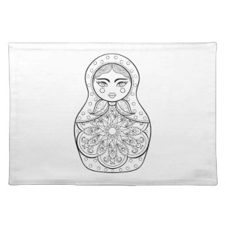 Elegant Russian Doll Placemat