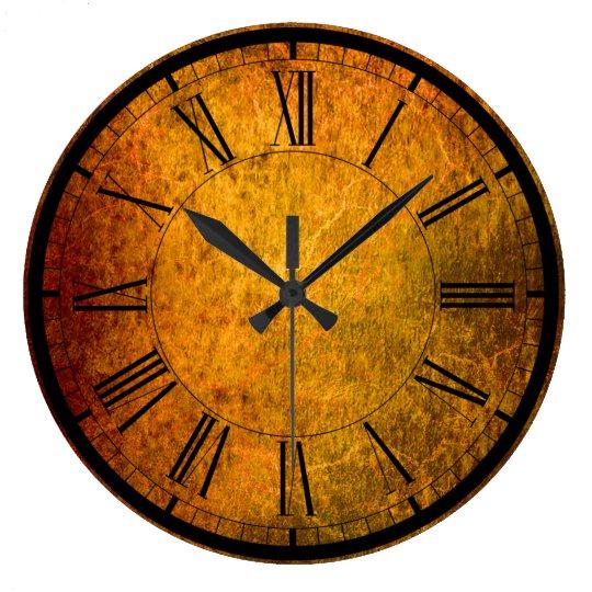 Elegant rust texture wall clock