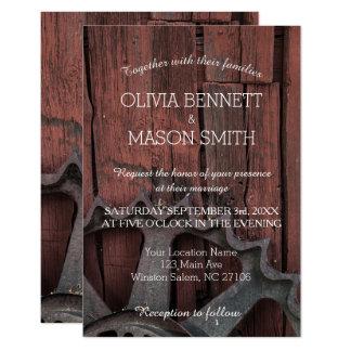 Elegant Rustic Country Wagon Wheel Wedding Card