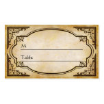 Elegant Rustic Distressed Wedding Table Place Card Pack Of Standard Business Cards