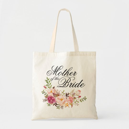 Elegant Rustic Floral Mother of the Bride Tote