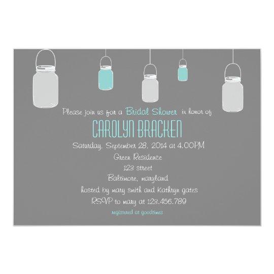 Elegant Rustic Mason Jars Bridal Shower Invite