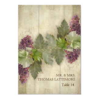 Elegant Rustic Vineyard Winery Fall Wedding 9 Cm X 13 Cm Invitation Card