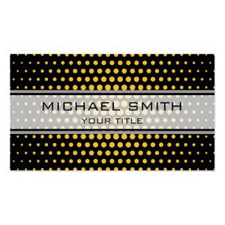 Elegant Saffron Polka Dot Pattern Pack Of Standard Business Cards