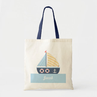 Elegant Sail boat Nautical Theme For Boys Tote Bag