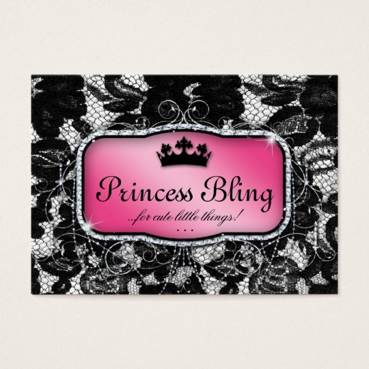 Elegant Salon Business Card Lace Crown Fashion