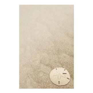 Elegant Sand Dollar Stationary 3 Personalized Stationery