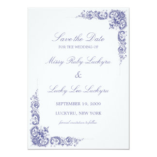Elegant Save the Date Announcement