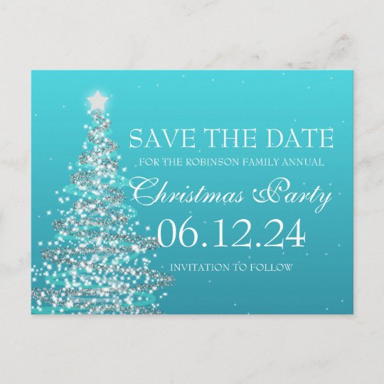 Modern Gold Reindeer Save The Date Christmas Party Announcement