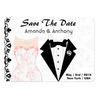 Elegant Save The Date Pack Of Chubby Business Cards