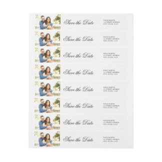 Elegant Save the Date Photo Address Label