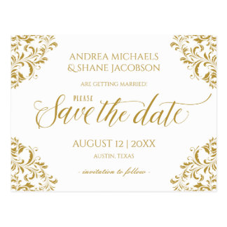 Elegant Save-the-Date Postcard *EDITABLE COLOR