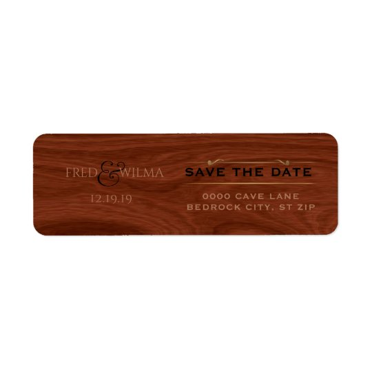 Elegant Save the Date Rustic Wood Western Wedding