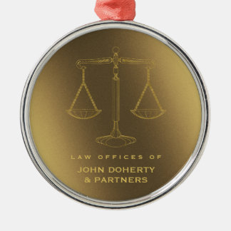 Elegant Scales of Justice | Law Gifts Christmas Ornament