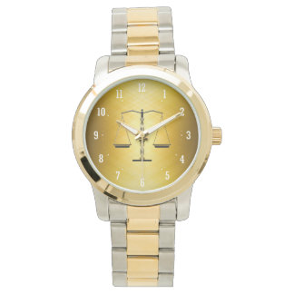 Elegant Scales of Justice Symbol | Best Gifts Wristwatch