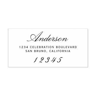 Elegant Script | Custom Modern Return Address Rubber Stamp