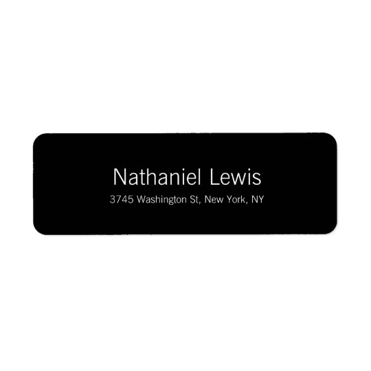 Elegant Script Plain Black Customise Text Return Address Label