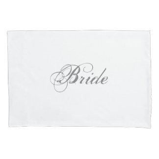 Elegant Script Romantic Bride's Pillowcase
