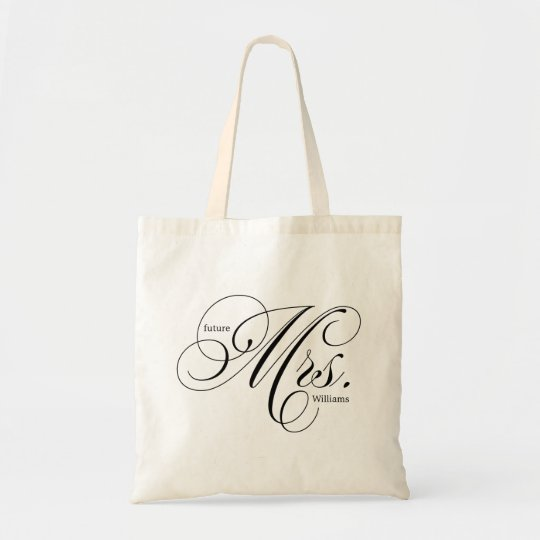 "Elegant Script Typography ""Future Mrs"" Tote Bag"