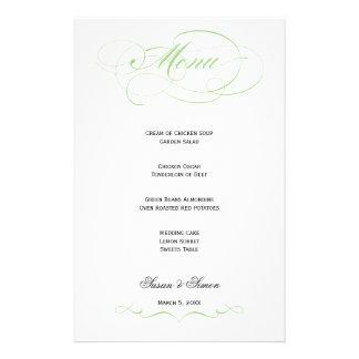 Elegant Script  Wedding Menu - Mint