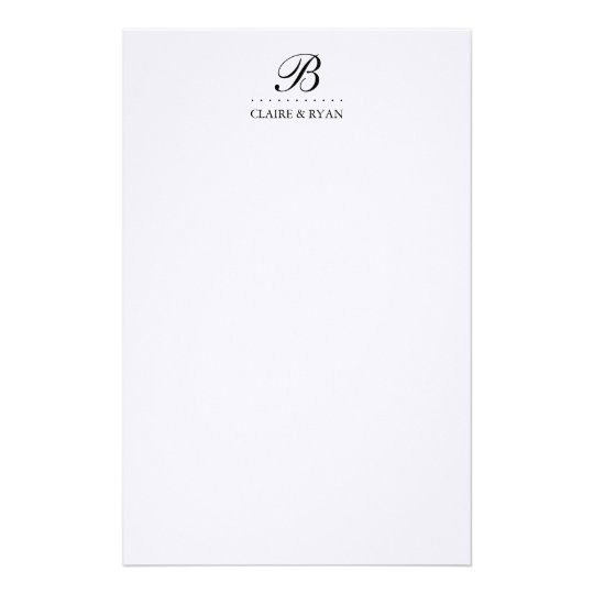 Elegant Script Wedding Monogram in Your Colours Stationery