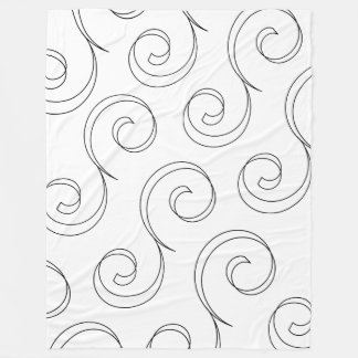 Elegant Scrolls Fleece Blanket
