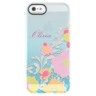 Elegant Sculpted Pastel Floral Personalized iPhone 6 Plus Case